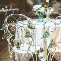Painted Banner Chair Decor