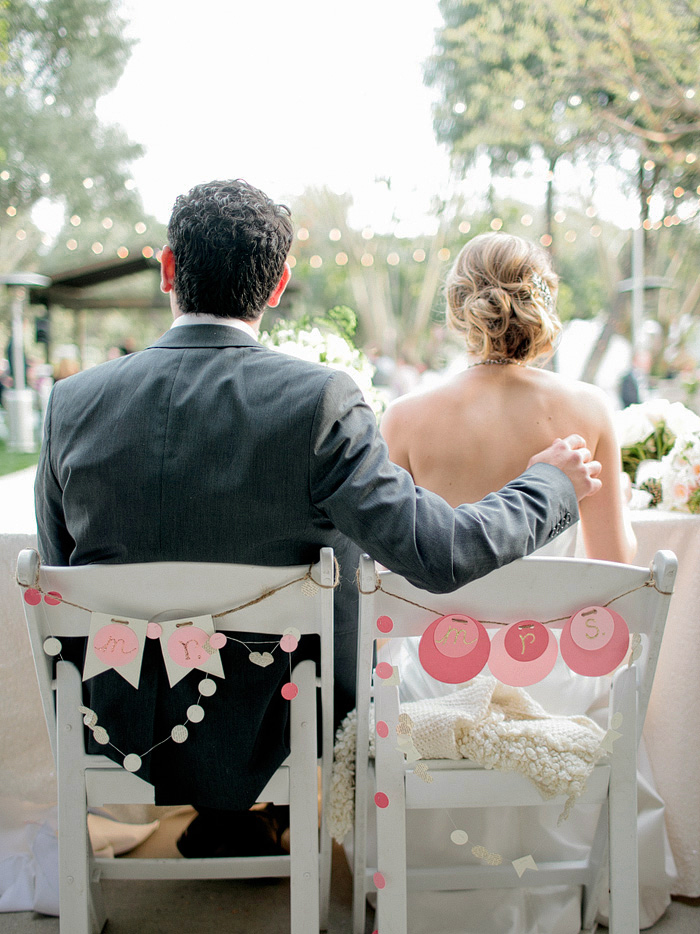 Paper Banner Chair Decor