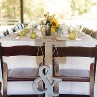 Metal Ampersand Chair Decor
