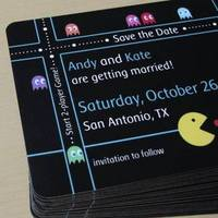 Geeky save the date