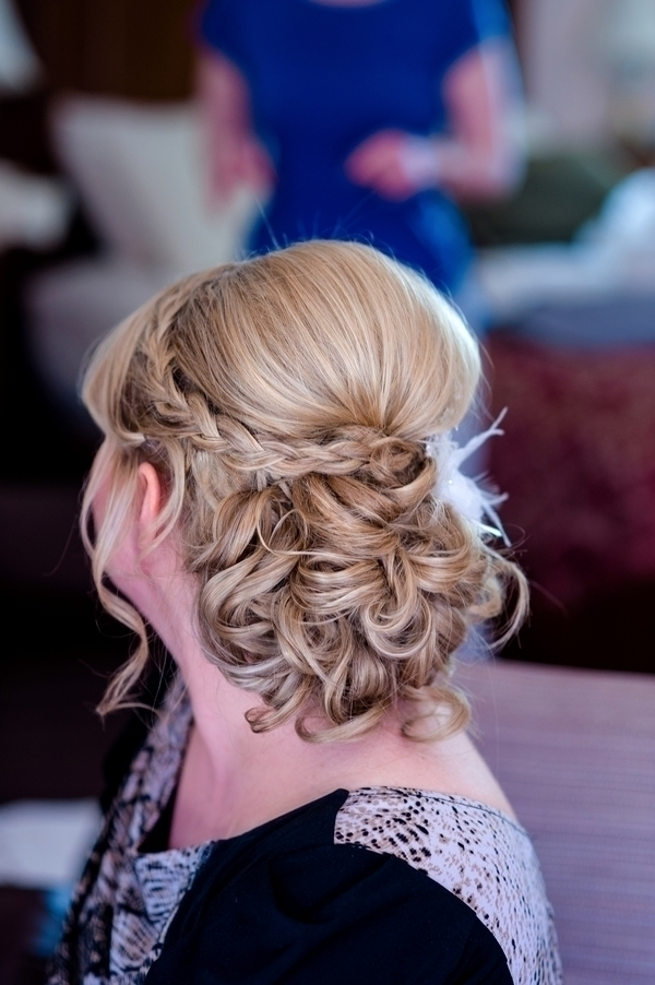 Classic Tousled Updo with Braid