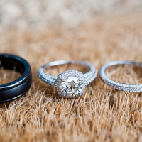 Silver Cushion Cut Engagement Ring