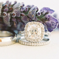 Cushion Cut Halo Engagement Ring