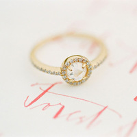 Whimsical Round Engagement Ring
