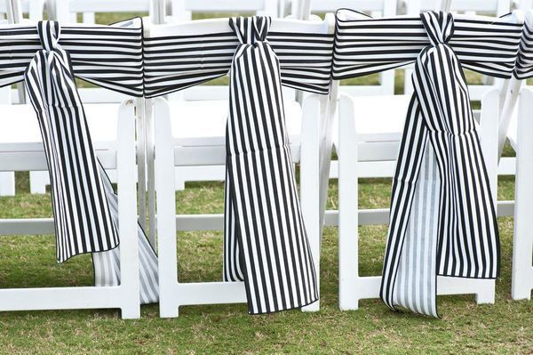 Striped Chair Sashes