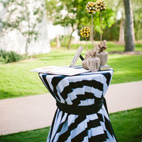 Striped Welcome Table