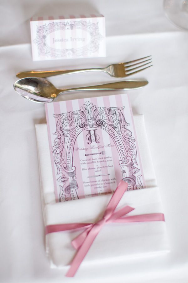Striped Menu Card