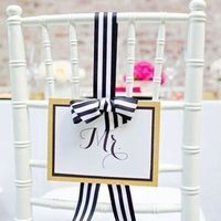 Striped Ribbon Chair Decor