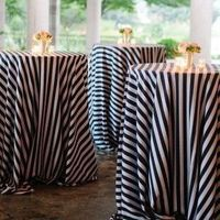 Striped Cocktail Reception Decor