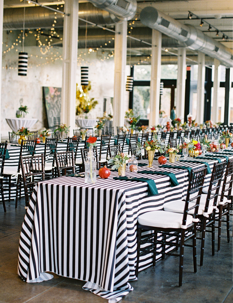 Long Striped Tables