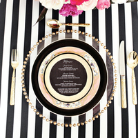 Striped Table Setting