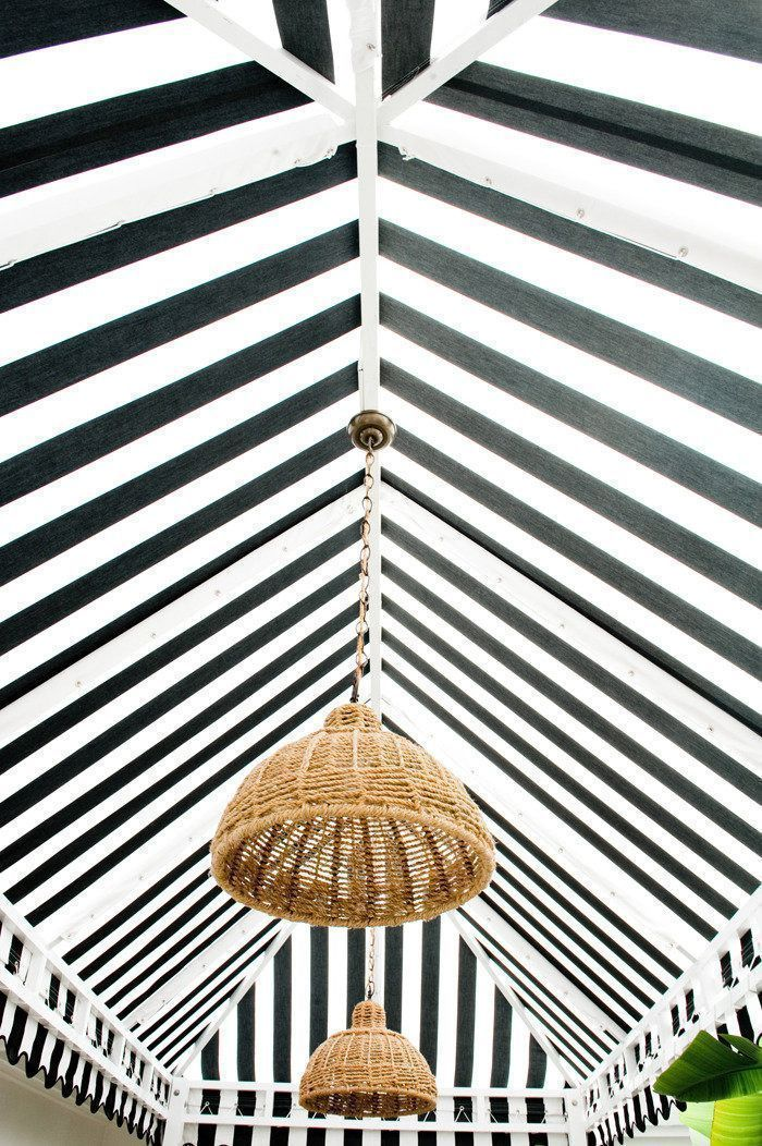Striped Tent Ceiling