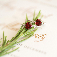Ruby Red Earrings