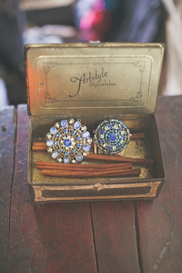 Detailed Blue Brooch