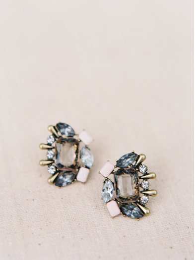 Blue Multi-Shape Stud Earrings