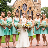 Bridesmaids in Blue-Green