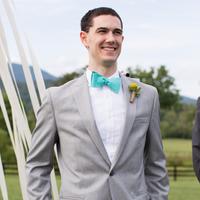 Aqua Blue Bow Tie