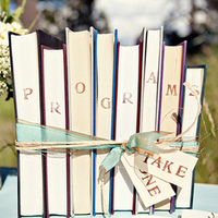 Wedding Sign with Books