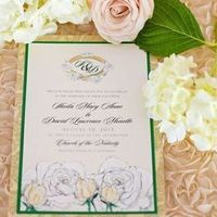 Fancy Flower Calligraphy Wedding Invites