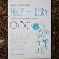 Simple and Cutesy Flower Invitation