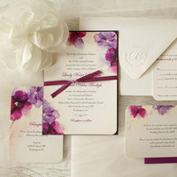 Romantic Floral Watercolor Invite