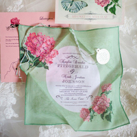 Spring Floral Handkerchief Invitation