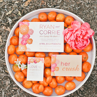Orange Crush Wedding Invitation