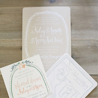 Romantically Detailed Spring Invitation