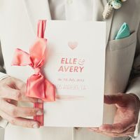 Pastel Pink Ribbon Invitation