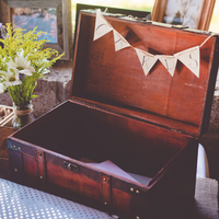 Vintage Suitcase Card Display
