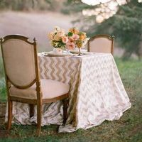 Sequin Chevron Table Linens