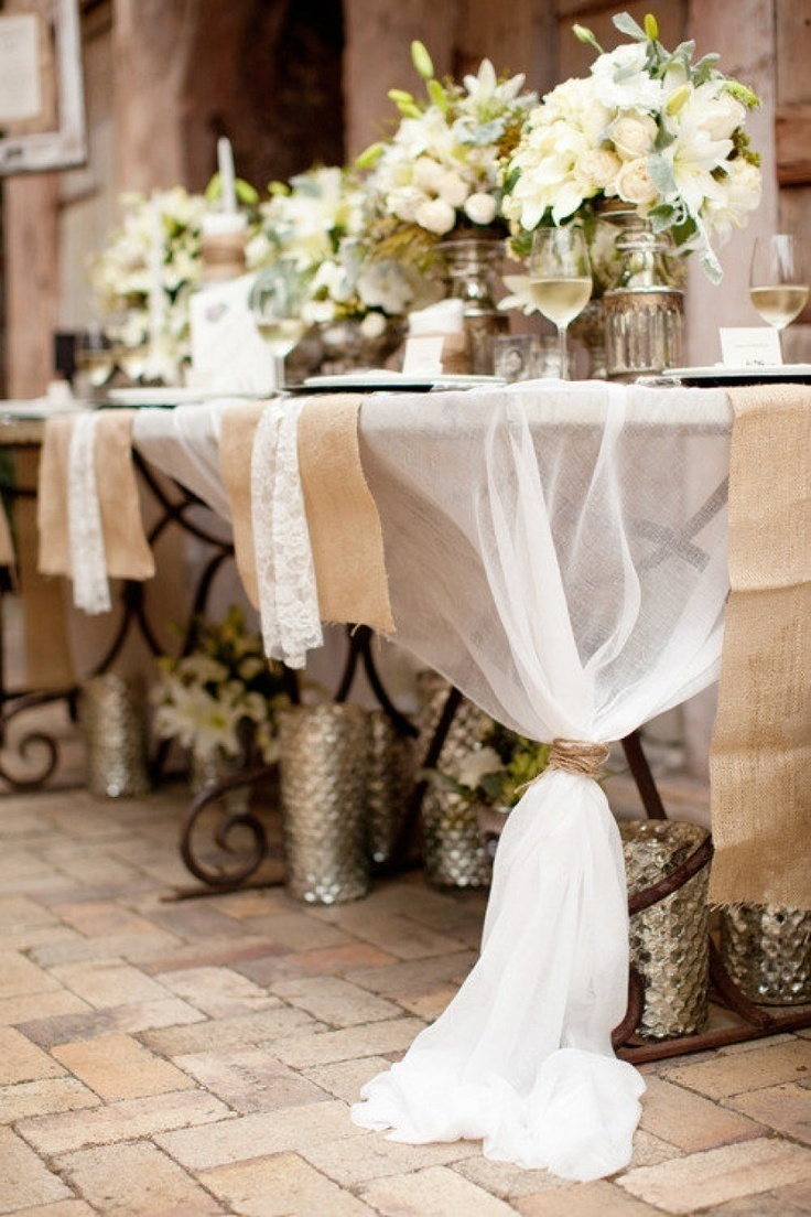 Sheer White Table Linens