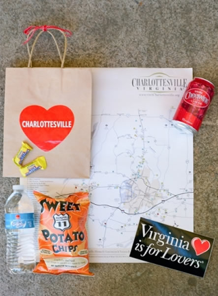 Heart-Themed Welcome Bag