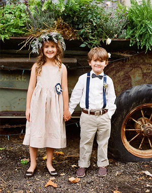 Rustic Flower Girl & Ring Bearer