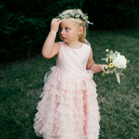 Pink Princess Flower Girl