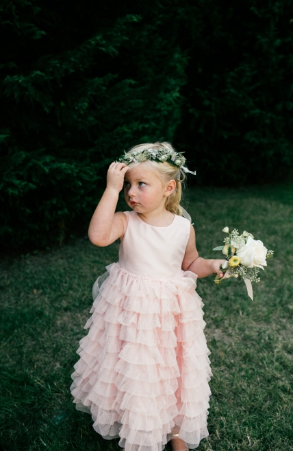Pink Princess Flower Girl