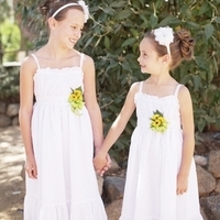Summery White Flower Girls