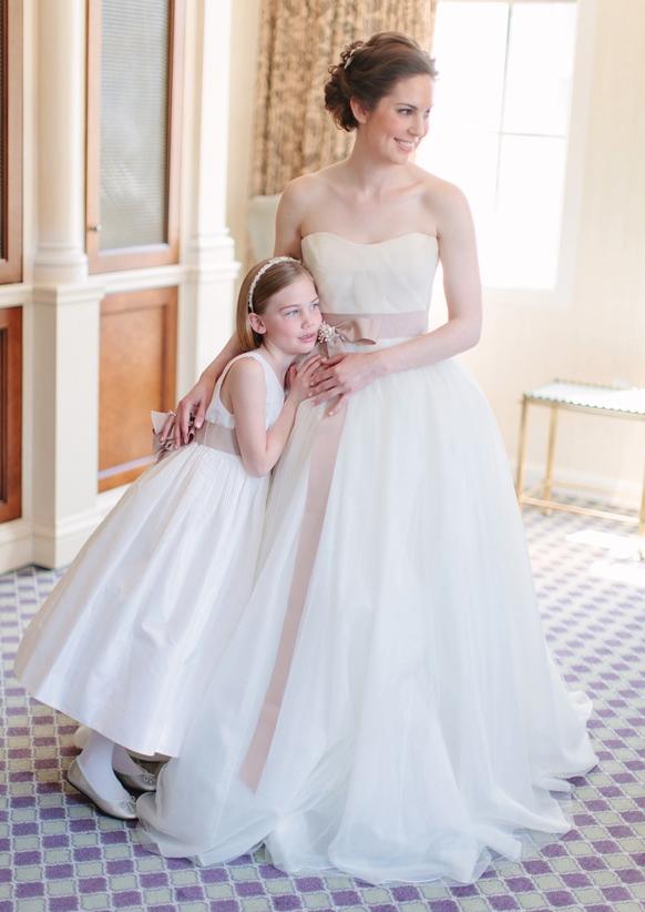 Formal White Flower Girl Dress