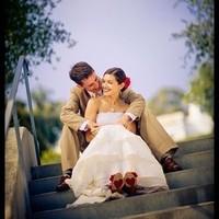 Red Bermuda Rose Bridal Hair Accessory Silk Flower Wedding Clip