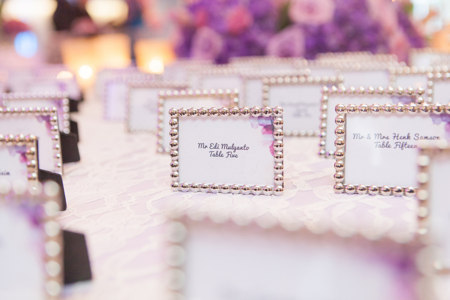 Framed Escort Cards