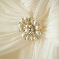 Pearl Wedding Dress Brooch