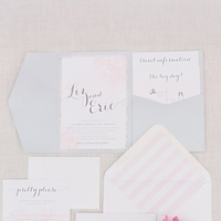 Striped Romantic Wedding Invitations