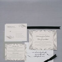 Striped Art Deco Wedding Invitations