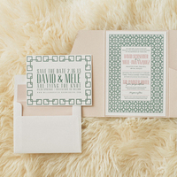 Patterned Art Deco Wedding Invitations