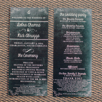 Chalkboard Ceremony Programs