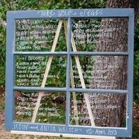 Casual Handwritten Window Seating Map