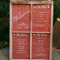 Vintage Window Wedding Program