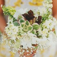 Rustic Green and White Bouquet