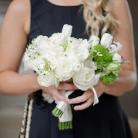 White Rose and Grasses Bouquet