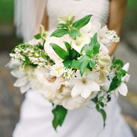 Green and White Spring Bouquet